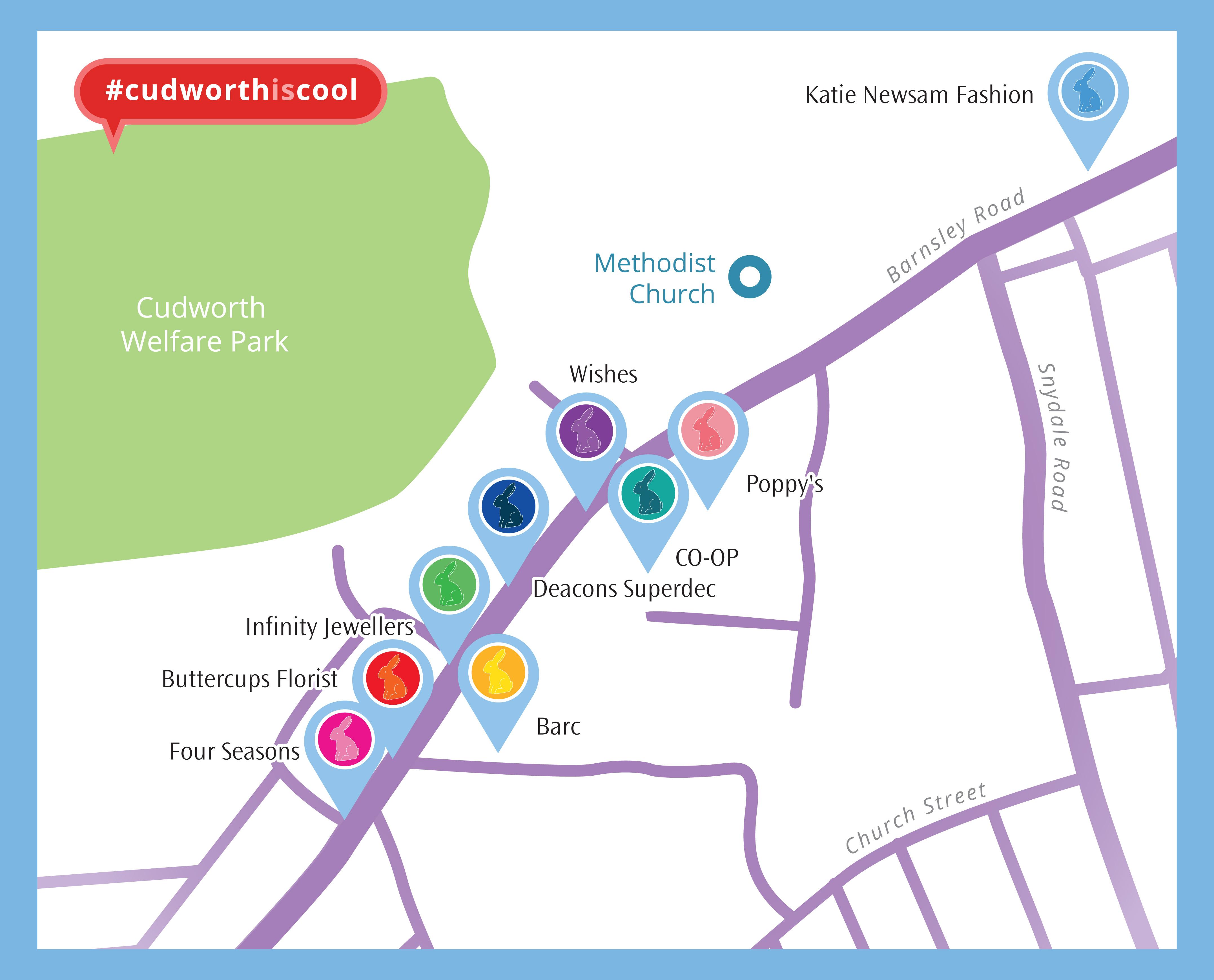 Cudworth bunny Trail Map