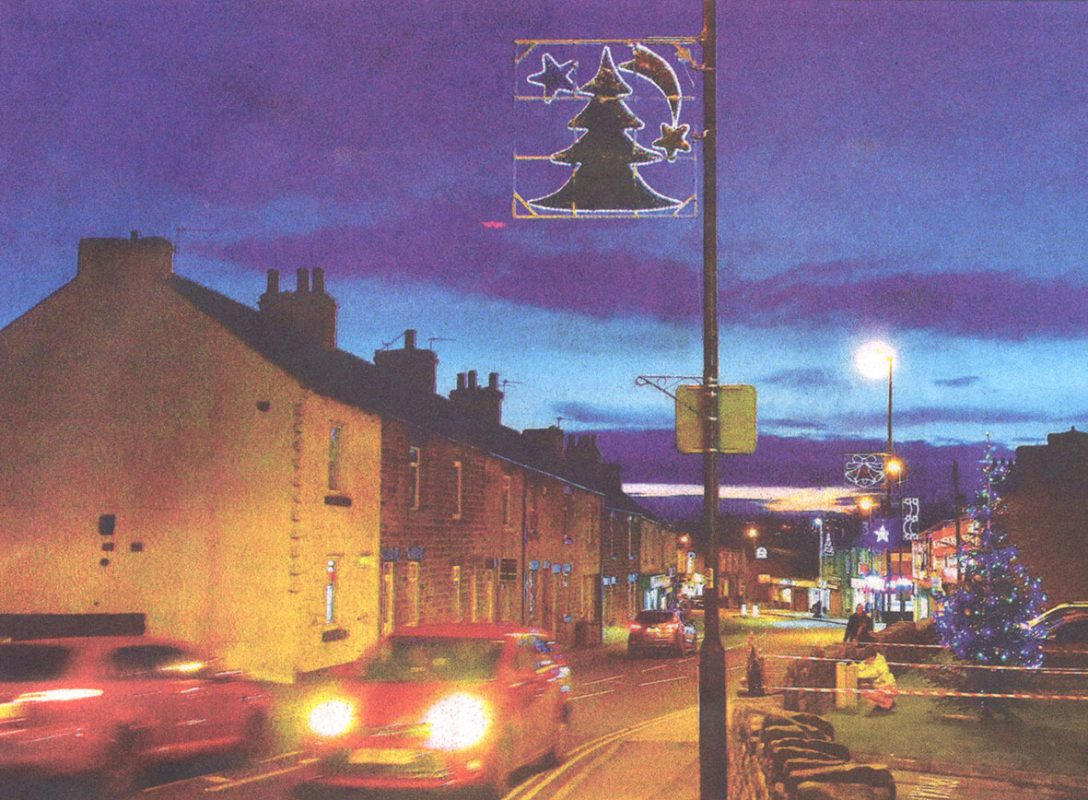 Cudworth High Street at Christmas